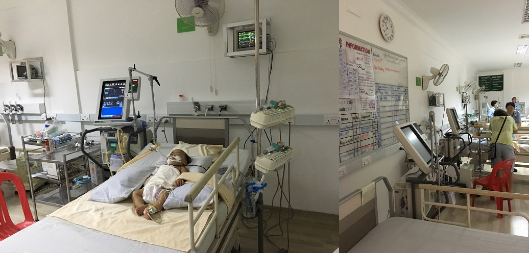 オーストラリアの医師チームが支えている脳神経外科の入院病棟